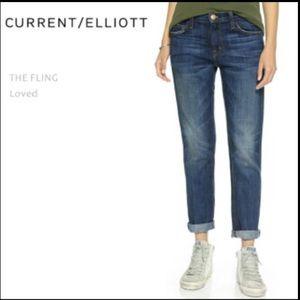 Current Elliott The Fling Jeans Loved Sz 27